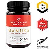 New Zealand Honey Co. Miel de Manuka MGO 514+ / UMF 15+ | Nueva Zelanda Miel 100% Pura y Saludable | 500g