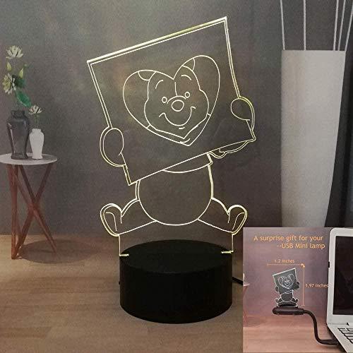 Led nachtlicht farbwechsel dekor lampe Winnie Puuh,Schlafzimmer Home Decoration Lampe Ideale Geschenke für Jungen und Mädchen Kinder - Berührungsschalter
