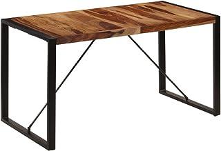 vidaXL Bois de Sesham Massif Table de Salle à Manger Table à Dîner Meuble de Cuisine Table de Repas Mobilier à Dîner Maion...