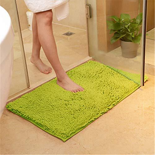 Xiaoxian - Alfombra antideslizante para baño (microfibra, 50 x 80, color verde hierba, con absorción de agua, suave y lavable a máquina