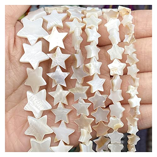 GuanRo Natural cáscara de Estrella de Cinco Puntas de Cinco Puntas Madre de Perla Suelta Perlas de Espaciador para la fabricación de Joyas Bricolaje Collar de Pulsera para Mujer Accesorios h