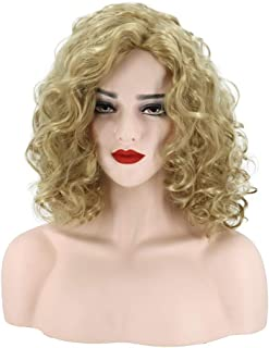 Hairpieces Hair Extension Wig Women's Golden African Small Curly Wig Set 42cm Hair Weave