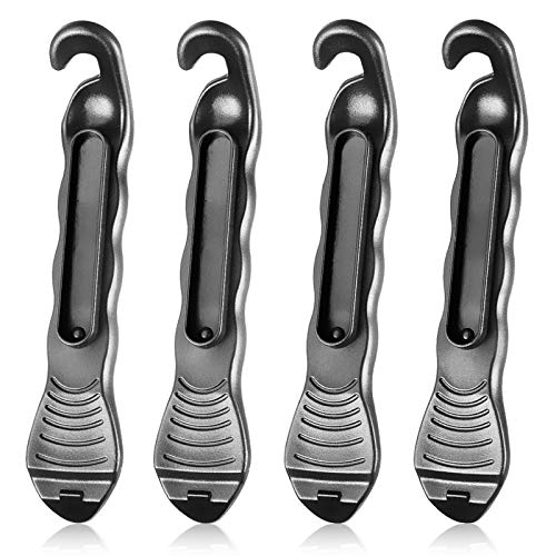 SHWJ 4PCS Bike Tire Lever, Tool is Smooth Overall, Which Will Not Hurt The Tire Bead, Professional Design Makes Work Easy, Designed to Snap Together for Storage, Best Tire Changing Tool