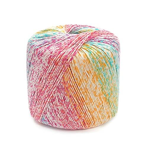 Vistoso Ovillos De Yarn Para Crochet Hilo De Algodon Crochet Ovillos De Algodon Para Ganchillo De Yarn Se Utilizan En Ropa De Punto, Sombreros, Calcetines, Bolsos, Juguetes, Etc. [133M, 43# Gorgeous]