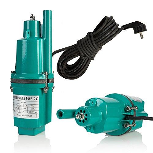 Prieser Tiefbrunnenpumpe 250W 230V 0,33 PS Tauchpumpe Membranpumpe Rohrpumpe Brunnenpumpe Wasserpumpe T4O