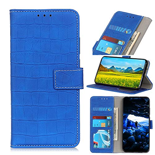 Snow Color Oppo Realme 6 Hülle, Premium Leder Tasche Flip Wallet Case [Standfunktion] [Kartenfächern] PU-Leder Schutzhülle Brieftasche Handyhülle für Oppo Realme 6 - COKZN060187 Blau