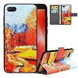 LFDZ Handyhülle für Xiaomi Redmi 6A Hülle,Premium 2 in 1 Abnehmbare PU Ledertasche für Redmi 6A Hülle,[RFID-Blocker] Flip Case Brieftasche Etui Schutzhülle für Xiaomi Redmi 6A Hülle,Autumn