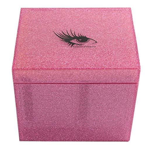 Wimpern Zubehör, 10 Schichten Wimpernverlängerung Aufbewahrungsbox Falsche Wimpern Display Halter Fall Makeup Organizer(Rosa)
