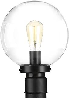 Progress Lighting P540007-031 Globe Post Lantern, Black