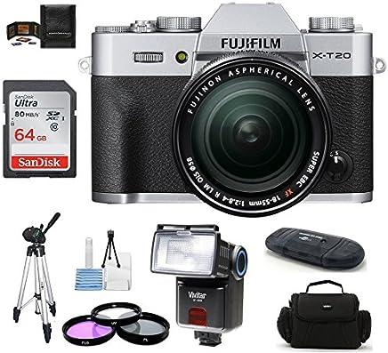 $949 Get Fujifilm X-T20 Mirrorless Digital Camera (with XF 18-55mm 64GB PRO Bundle, Silver)