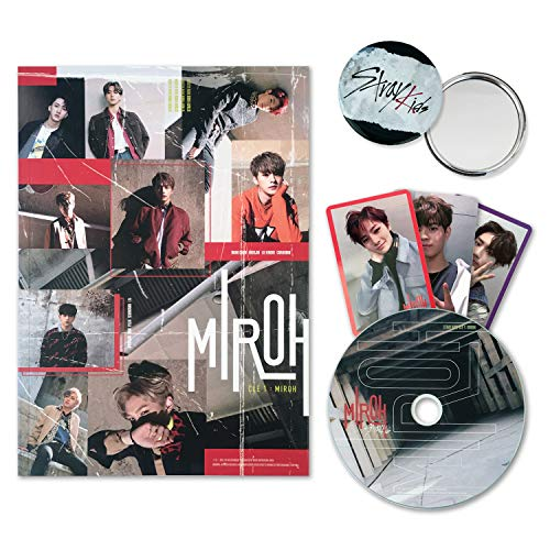 STRAY KIDS Mini Album - CLE 1 : MIROH [ Clé 1 ver. ] CD + Photobook + 3 QR Photocards + FREE GIFT