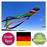 molinoRC Wunderschöner Windsack | Rainbow leuchtende Farben | D 15cm | L 130cm | wetterbeständig Windsocke | Windspiel | Wetterfahne | stabile Aufhängung | Regenbogen | 📦 | 🇩🇪 |...