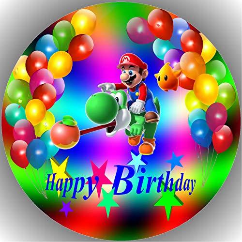 Fondant Tortenaufleger Tortenbild Geburtstag Super Mario T16