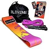 ElevenFit Set Fitness con Corda per Saltare, Fascia Elastica Glutei in Tessuto, E-Book in Italiano