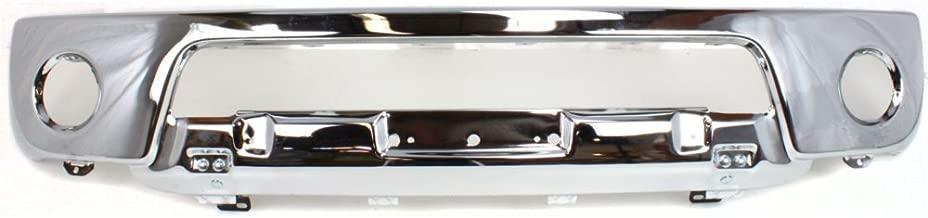 Bumper for Nissan Frontier 05-08 Front Bumper Lower Chr Stl 2-Piece Type Bumper w/Off Road Pkg w/Fog Lgt Holes
