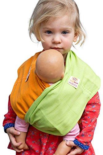 Babytuch - das Tragetuch ohne Knoten Puppentuch * für Puppenmütter und Teddy-Daddys * zum Tragen von Puppen und Plüschtieren (3, Maigrün)