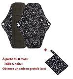 Serviettes hygièniques lavables Covermason Bambou réutilisables lingette lavable menstruel serviette hygiénique de Pad Mama (s,...