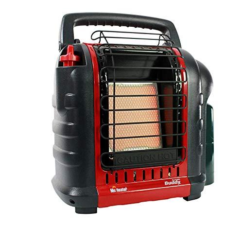 SZHWLKJ Riscaldatore 4,000-9.000-BTU Cassaforte da Interno-cassaforte for propano radiante propano, Rosso-Nero