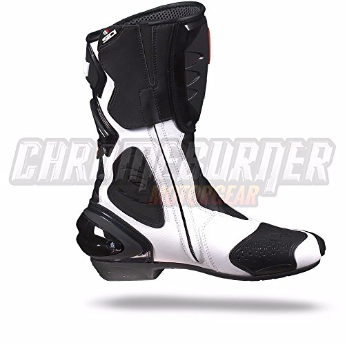 Sidi Cobra Motorradstiefel, Schwarz-Weiß, Größe: 38 - 4