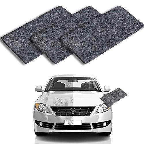 3PCS Multipurpose Car Scratch Remover Cloth, Nano Magic Repairing Scratches, Multipurpose Car Cleaning Paint, Surface Polishing, Water Spot, Rust and Scratch Remover, Light Scratch Repair for Cars