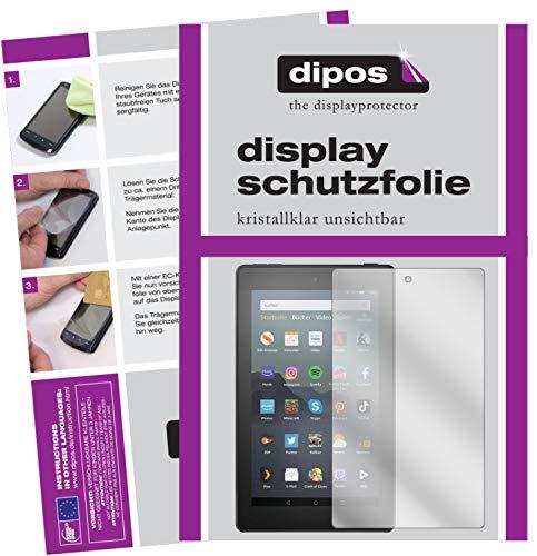dipos I 2X Pellicola Protettiva Compatibile con Amazon Fire 7 Tablet Kids Edition (2019) Pellicola di Protezione Cristallo