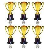 BESPORTBLE 12 Piezas de Trofeos Medallas de Premios Conjunto de Premios Premios Premios Favores de La Fiesta de Regalo para Torneos Deportivos Competiciones Fiestas