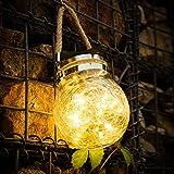 Lampes solaires pour jardin, 30 LED lanterne solaire pour extérieur, lampe suspendue solaire pour extérieur, décoration de jardin, lanterne solaire pour extérieur, fête, mur, table, mariage