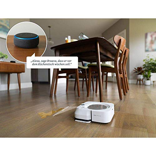 iRobot Braava m6 (m6134) Wischroboter mit WLAN, Präzisions-Sprühstrahl und erweiterter Navigation, Zeitplanreinigung, lernt und passt sich Ihrem Zuhause an, Nass- und Trockenwischen, App-Steuerung - 15