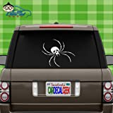 Skull Spider Vinyl Decal Sticker for Car Truck Window Laptop MacBook Wall Cooler Tumbler | Die-Cut/No Background | Multiple Sizes and Colors, 8-Inch, Red