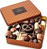 Chocolate Gift Basket , Gourmet Snack Food Box in Keepsake Tin, Great for Birthday, Sympathy, Family...