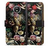 Étui Compatible avec Motorola Moto G5s Étui Folio Étui magnétique Peinture Eglise Fleur