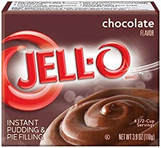 Jell-O Chocolate Instant Pudding & Pie Filling 3.9 oz (Pack of ...