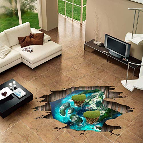 Autocollant Mural Etoile Le Salon De La Chambre À Coucher Magic Island 3D Élimine L'Autocollant Mural Décoratif Imperméable 120 X 59 Cm
