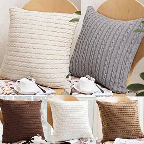 sansee tejer Fashion manta fundas de almohada de café sofá cojín cubierta decoración del hogar