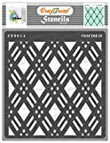 CrafTreat Geometric Diamond Pattern Stencils for Painting on Wood, Wall, Tile , Canvas, Paper, Fabric and Floor - Double Diamond Stencil - 6x6 Inches - Reusable DIY Art and Craft Stencils