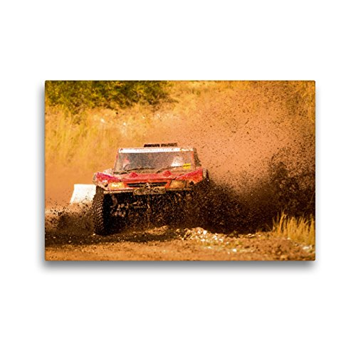 Premium Textil-Leinwand 45 x 30 cm Quer-Format Citroën Buggy Rallye Raid | Wandbild, HD-Bild auf Keilrahmen, Fertigbild auf hochwertigem Vlies, Leinwanddruck von Photography PM