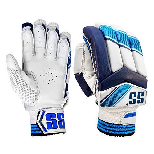 SS Cricket Club Lite Cricket Batting Gloves, Men's Right Handed (White)