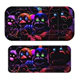 Five Nights at Freddy's Vinyl Skin for Nintendo Switch, Full Set Wrap Protector Stickers Cover Joint Protective Faceplate Console Joy-Con Dock
