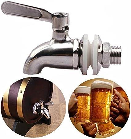 Fltaheroo Grifo Llave de Acero Inoxidable Grifo de Cerveza de Barril para casa fermentador de Cerveza Dispensador de Jugo Cerveza de Barril Vino Barrilete de Nevera de Bebida