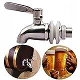 Cikuso Grifo Llave de Acero Inoxidable Grifo de Cerveza de Barril para casa fermentador de Cerveza Dispensador de Jugo Cerveza de Barril Vino Barrilete de Nevera de Bebida