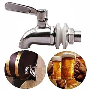 SODIAL Grifo llave de acero inoxidable Grifo de cerveza de barril para