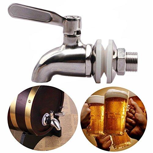 Huante - Grifo de acero inoxidable con grifo de cerveza para la casa, para el hogar, fermentador de vino, cerveza, zumo, dispensador de bebidas frigo Kegs
