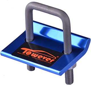 Towever 84705 Trailer Hitch Tightener Anti Rattle Stabilizer 2 & 1.25 inches Hitch, Aluminum Constructed Rust Free Hitch Clamp Easy Installation