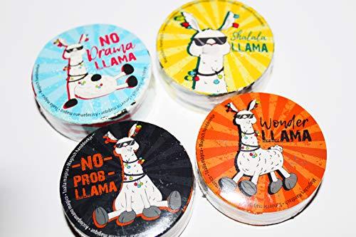 Kamaca - Party-Mitgebsel in 4er Sez ( = 4 Stück) Comic Lama, Größe ca. 30 cm x 30 m