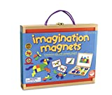 MindWare Imagination Magnets - Imaginative play with magentic shapes - 42 wooden blocks 50 full-color puzzle cards