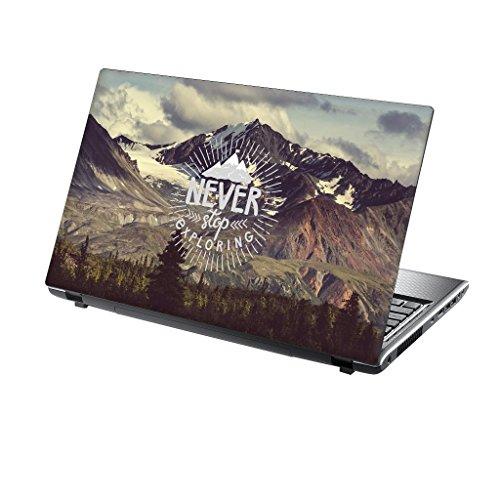 TaylorHe Folie Sticker Skin Vinyl Aufkleber mit bunten Mustern für 15 Zoll 15,6 Zoll (38cm x 25,5cm) Laptop Skin erforschen Berge