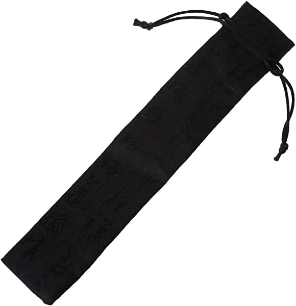 Chinese Calligraphy Style Decorative Folding Hand Fan Bag Dustproof Holder Protector Pouch Case Cover Gifts