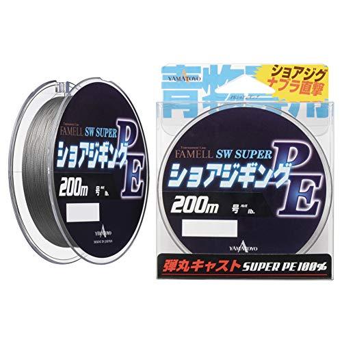 ヤマトヨテグス(YAMATOYO) PEライン ファメル ショアジギングPE 200m 2号 25lb 4本 グレー