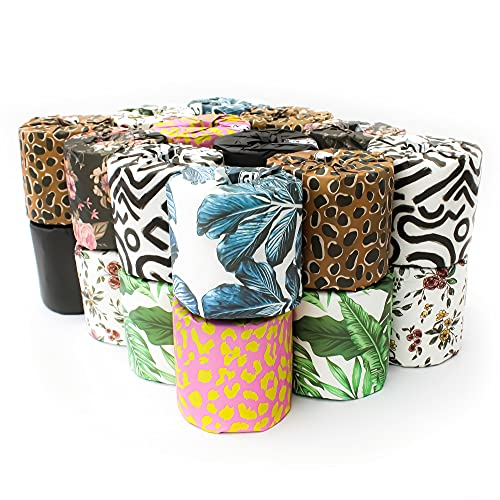No. 2 - Bamboo Toilet Paper, 24 Tree- Free Rolls per Carton, Strong and Silky 3-Ply Bathroom Tissue, Individually Wrapped in Recycled Paper with Colorful Prints, Biodegradable TP
