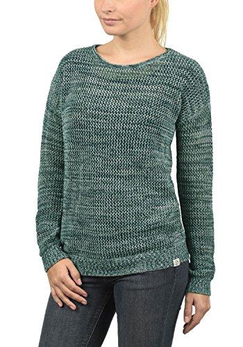 DESIRES Lea Damen Strickpullover Feinstrick Pullover Mit Lochstrickmuster Und Rundhals Aus 100% Baumwolle Loose Fit, Größe:S, Farbe:North ATL. (3324M)